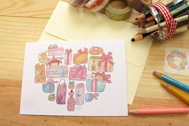 Small mushrooms Cards - Gift of Love