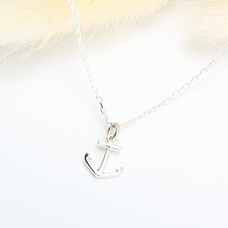 Anchor s925 sterling silver necklace Valentine's Day gift