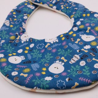 Round VIP dog forest bib double yarn saliva towel