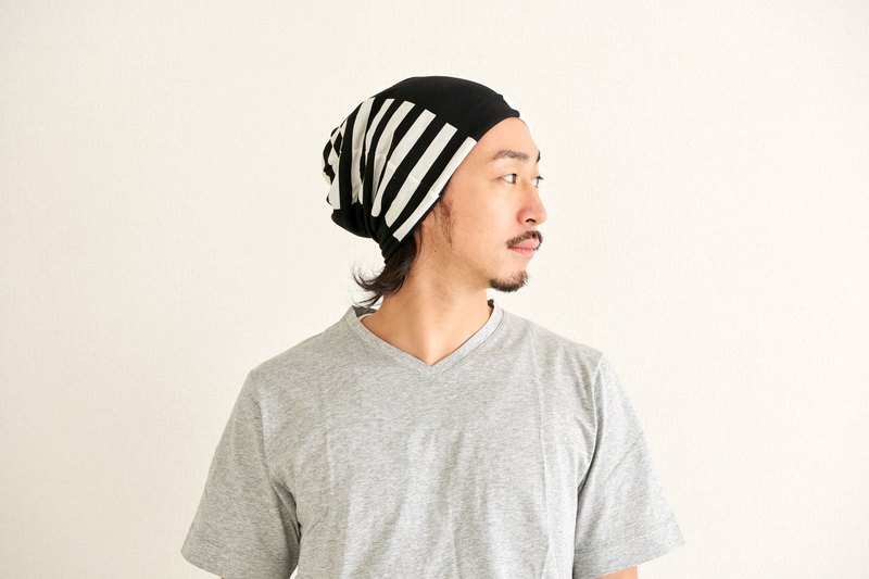 MADE IN JAPAN 100% Organic Cotton Lined Beanie Headband Neck Warmer Chemo Hat