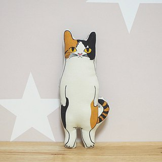 red tabby×white CAT stuffed animal pocket size | 茶トラ猫ちゃん ヌイグルミ