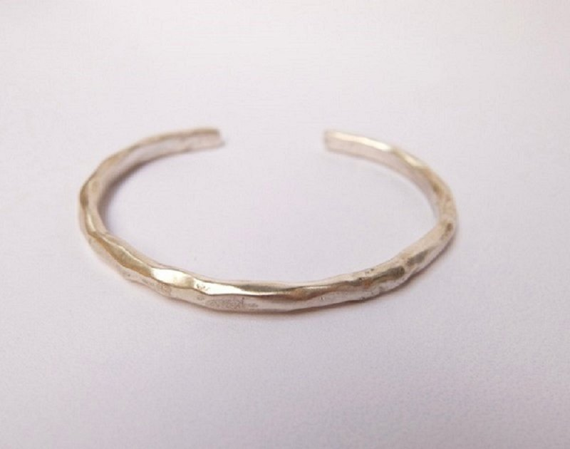 Irregularly typed sterling silver bracelet (customer order)