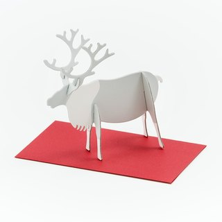 GOOD MORNING INC. 立體卡片 Reindeer/Standing Message Card