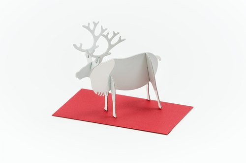 GOOD MORNING INC. Pop-up Card Reindeer / Standing Message Card