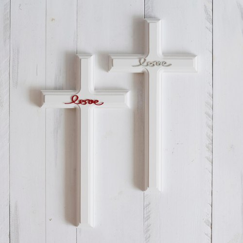 Ten Love Country Style Wood Cross Wall Small