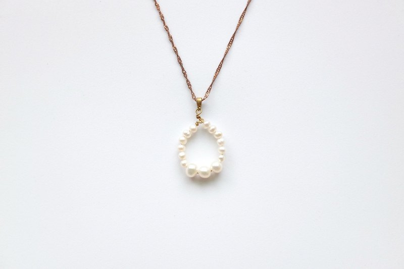 Brass Necklaces | Natural Freshwater Pearls