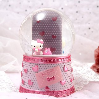 Hello Kitty miss picture frame crystal ball music bell