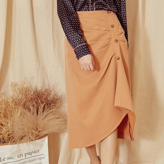 MIT texture romantic wrinkle long skirt (R6009B)