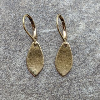 Raw Brass Leaf Earrings