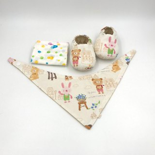 Rabbit Baby - Miyue Baby Gift Box (toddler shoes / baby shoes / baby shoes + 2 handkerchief + scarf)