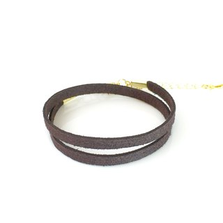Dark brown - suede roping bracelet (also can be used as a necklace)