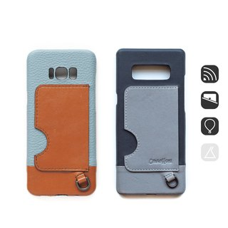 Patina Custom Leather Phone Case LC85 Inductive Card iPhone Android Applicable