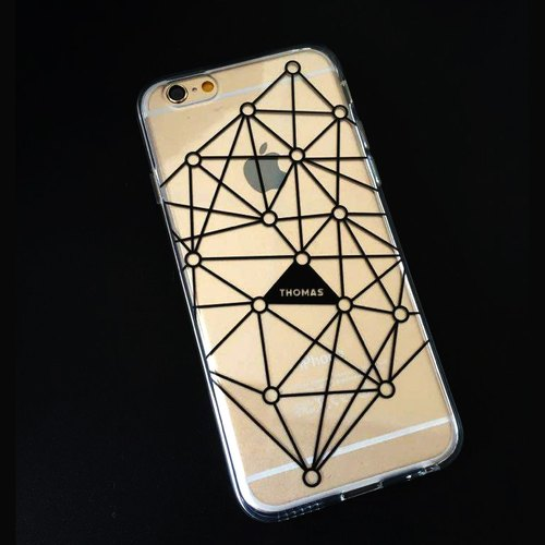 Transparent Phone Case (additive name) - Tattoo no C032 (background download).