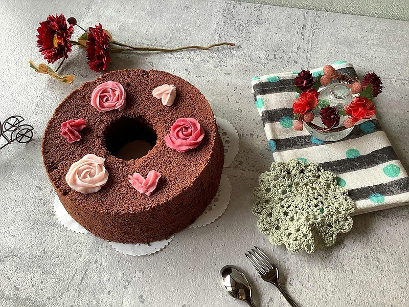 【母親節蛋糕】玫瑰愛心巧克力戚風