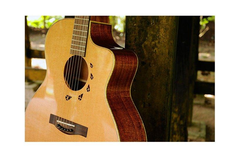 【L.Luthier】Bayou C 桃花心木 全單板吉他 小Jumbo桶身