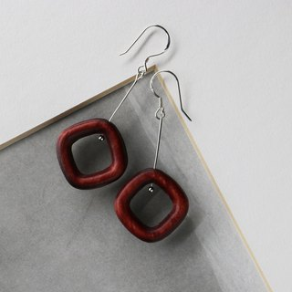 Kawagoe donut hoop hanging earrings hand made limited edition
