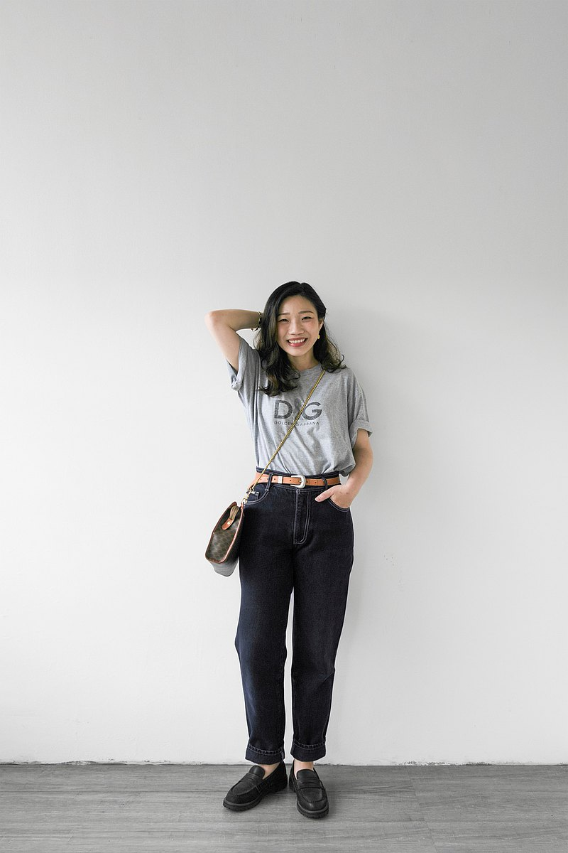 27-28 waist-dark blue primary color high waist denim straight pants