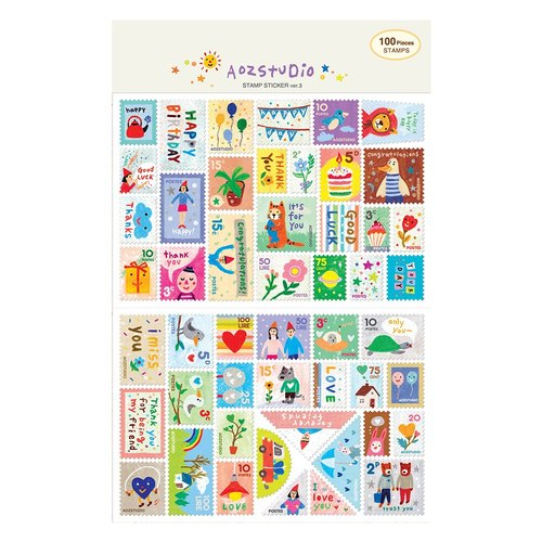 7321Desgin-Mini Stamp Sticker Group V3-Aozstudio, 7321-02832