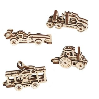 / Ugears / Ukrainian wooden model itchy series - itch car group