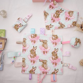 Rabbit Bunny Gift Box Appease Towel Triangle Mouth Washing Bag Peaceful Bag