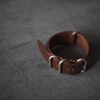 NATO strap water ghost military watch for Italy imported coke tea leather handmade leather design customized