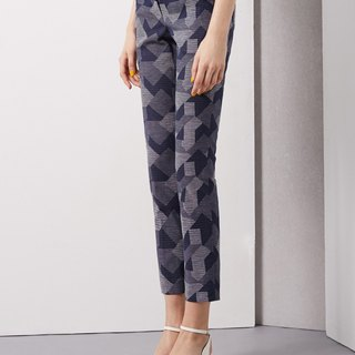率性幾何修身長褲Reckless geometric Slim trousers