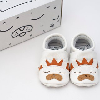 [European] lion first baby shoes handmade soft leather toddler shoes / indoor shoes