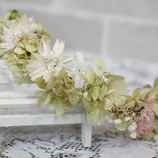 [Paragraph beautiful dried wreath / flower hair accessories] - eternal flower / dried flower / bouquet jewelry / wedding bouquets Bouquet / Flower Ceremony