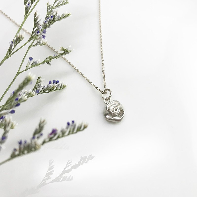 Nature Series-Rose Sterling Silver Necklace Valentine's Day Memorial Day Birthday