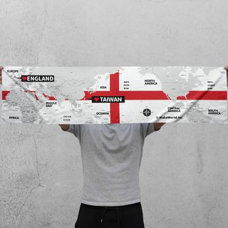 Make World Map Manufacture Sport Towel (England)