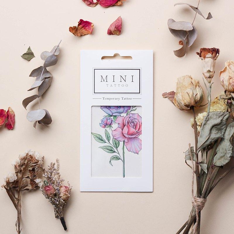 自家創作紋身貼紙 - Rose 簡約雙生玫瑰