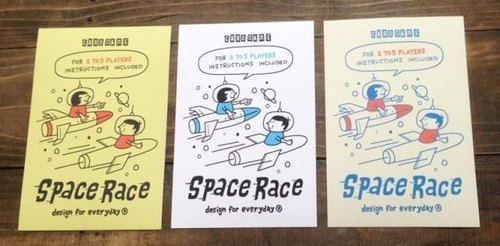 SPACE- ~ 3 sheets American retro-post card