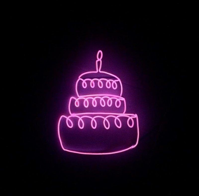 neonlite 客製霓虹文字圖案燈 /生日蛋糕/