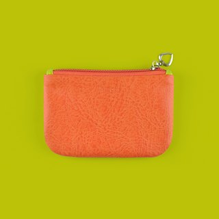 Color Block Coin Purse, Card Holder, Card Case, Mustard Green and Orange