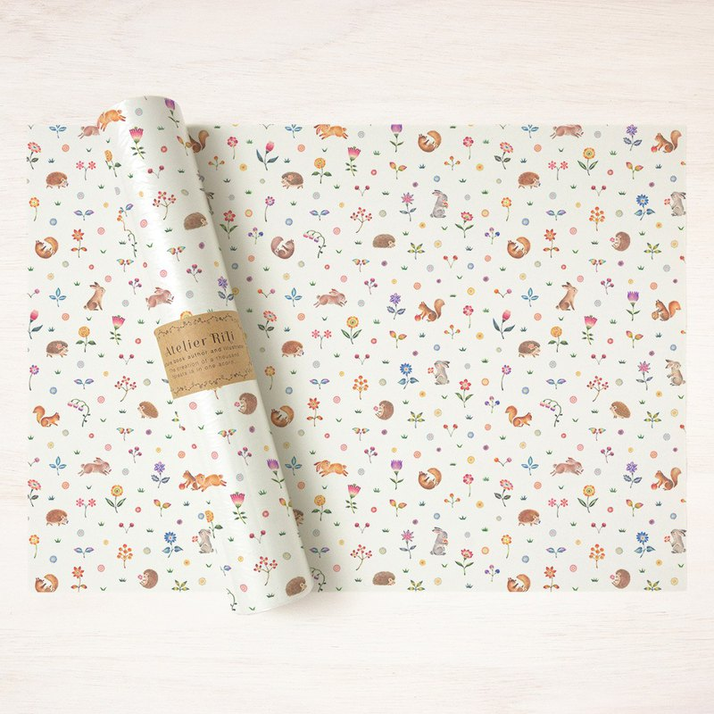 "6 sheets set. Wrapping paper A3 ""Happy time of animals"" WP-A3519"