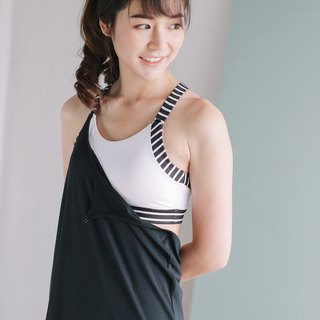 Clip On Tank - Black / White