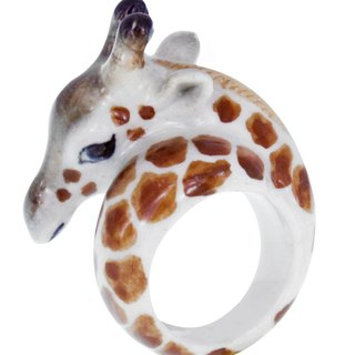 Giraffe Porcelain Ring