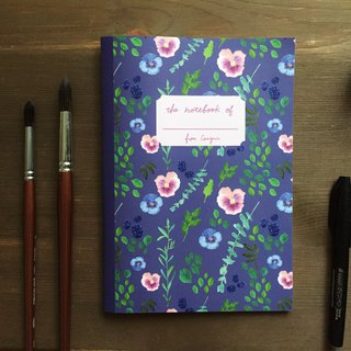 Zhu Xi and Eucalyptus Leaf Square Eye Notebook A5 Square Notebook
