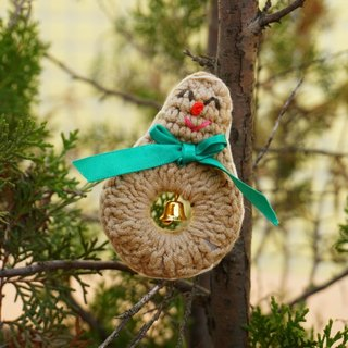 (Christmas gift exchange) · Independent Original Christmas Christmas Gingerbread Man Hand crocheted brooch