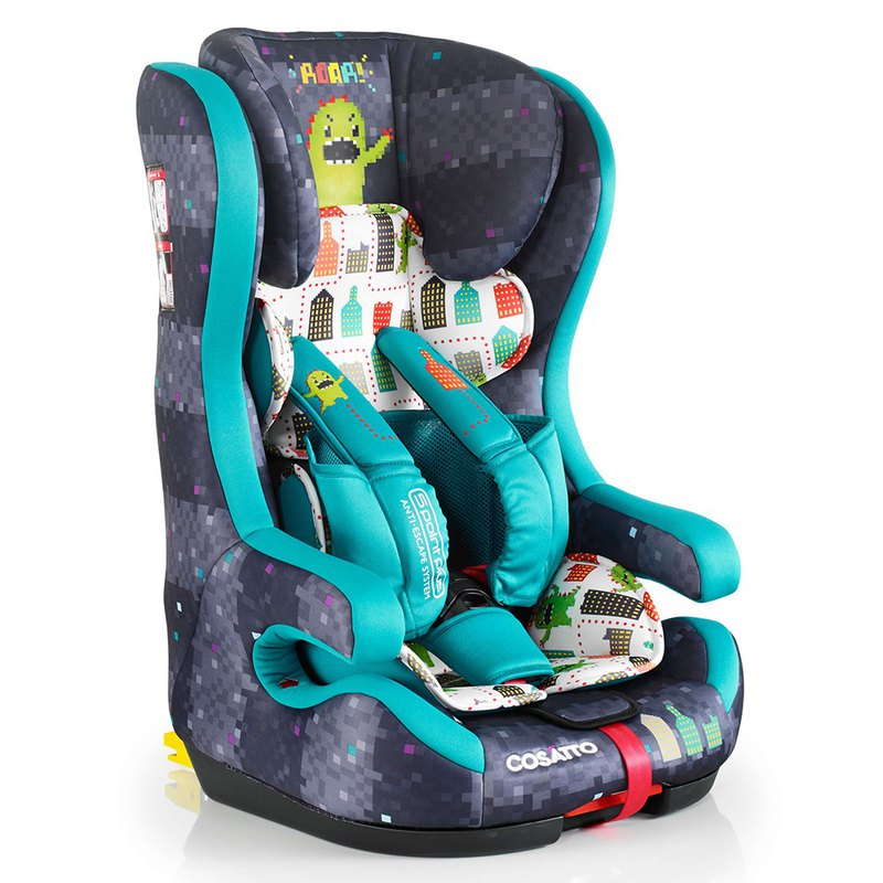 Cosatto Hubbub Group 123 Isofix Car Seat – Monster Arcade (5 point plus)