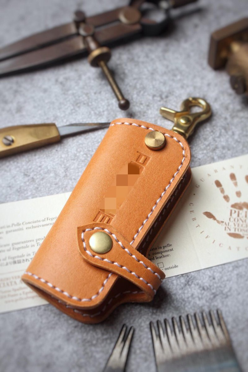 [Poseidon boutique handmade leather goods] Porsche Porsche car key holster manual