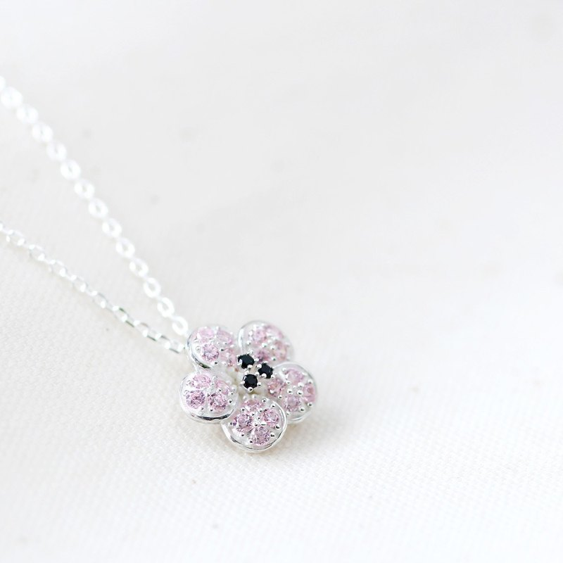 Cherry Blossoms Sakura necklace silver 925