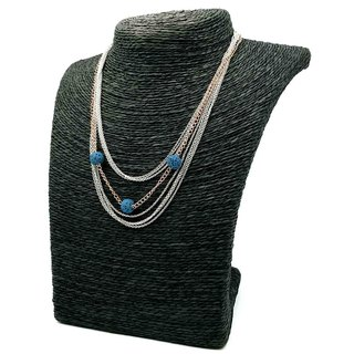 Triple-Bead Aroma Rock - Titanium Steel - Rose Gold - Diffuser Clavicle Necklace