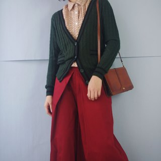 Treasure Hunting Vintage - College Wind Emerald Twist Knit Thin Jacket