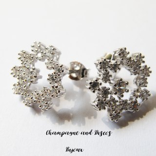 CD Bijoux Jewelry Silver light snowflake earrings * *