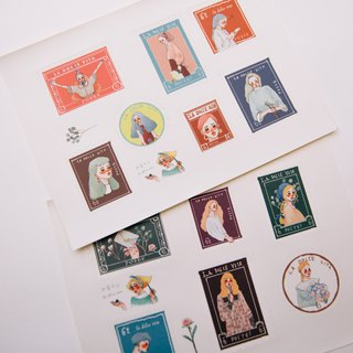 Dear stamp sticker two sets
