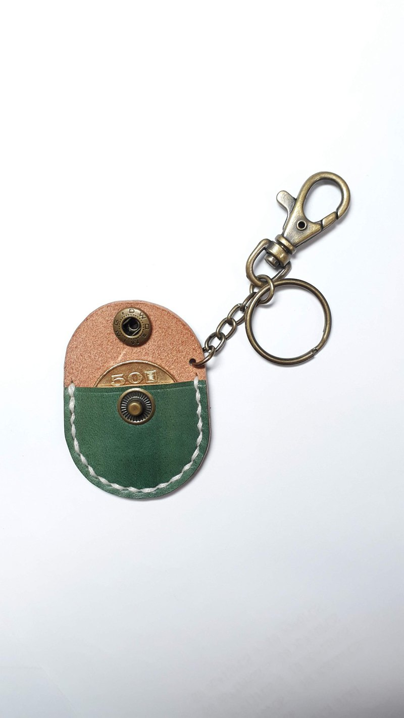 First Aid Kit (Coin Purse) Key Ring│Vegetable Tanned Leather Hand-painted Copper Hardware Can Be Branded (5 Words)