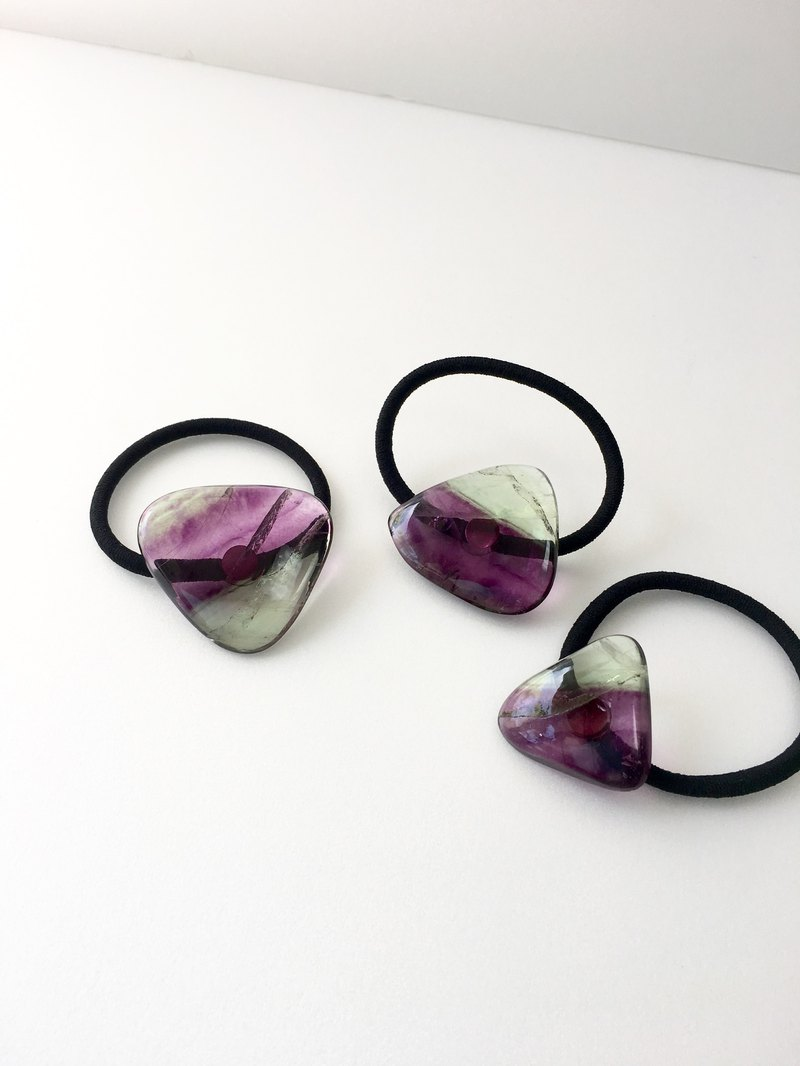 Bi color Fluorite Hair-tie