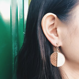 Floating Planet - Black Ear Earrings (pair)