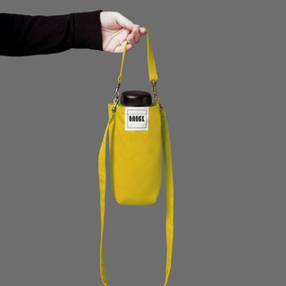 Universal Eco-friendly Beverage Bag Detachable Long Straps Shoulder Shoulder Portable Yellow